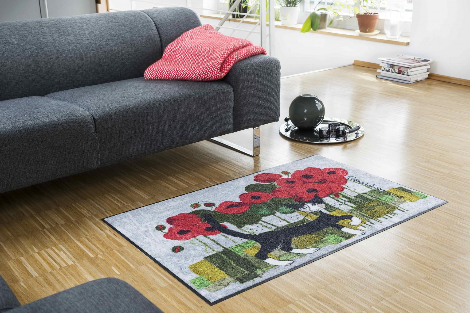 rosina wachtmeister fu matte poppywalk von salonloewe waschbare katzenfu matte. Black Bedroom Furniture Sets. Home Design Ideas