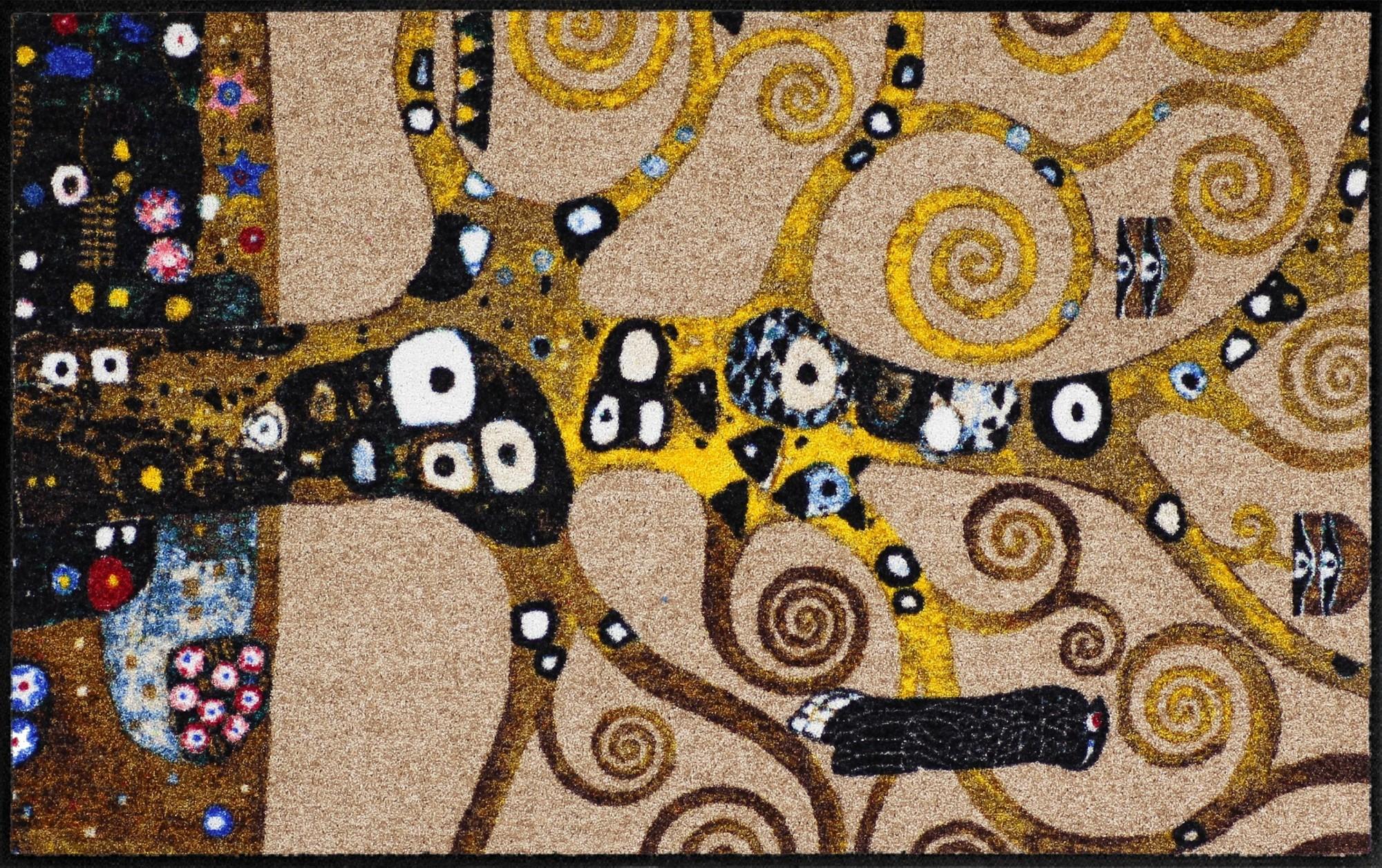 fu matte klimt lebensbaum von gigi banini salonloewe waschbare fu matte. Black Bedroom Furniture Sets. Home Design Ideas