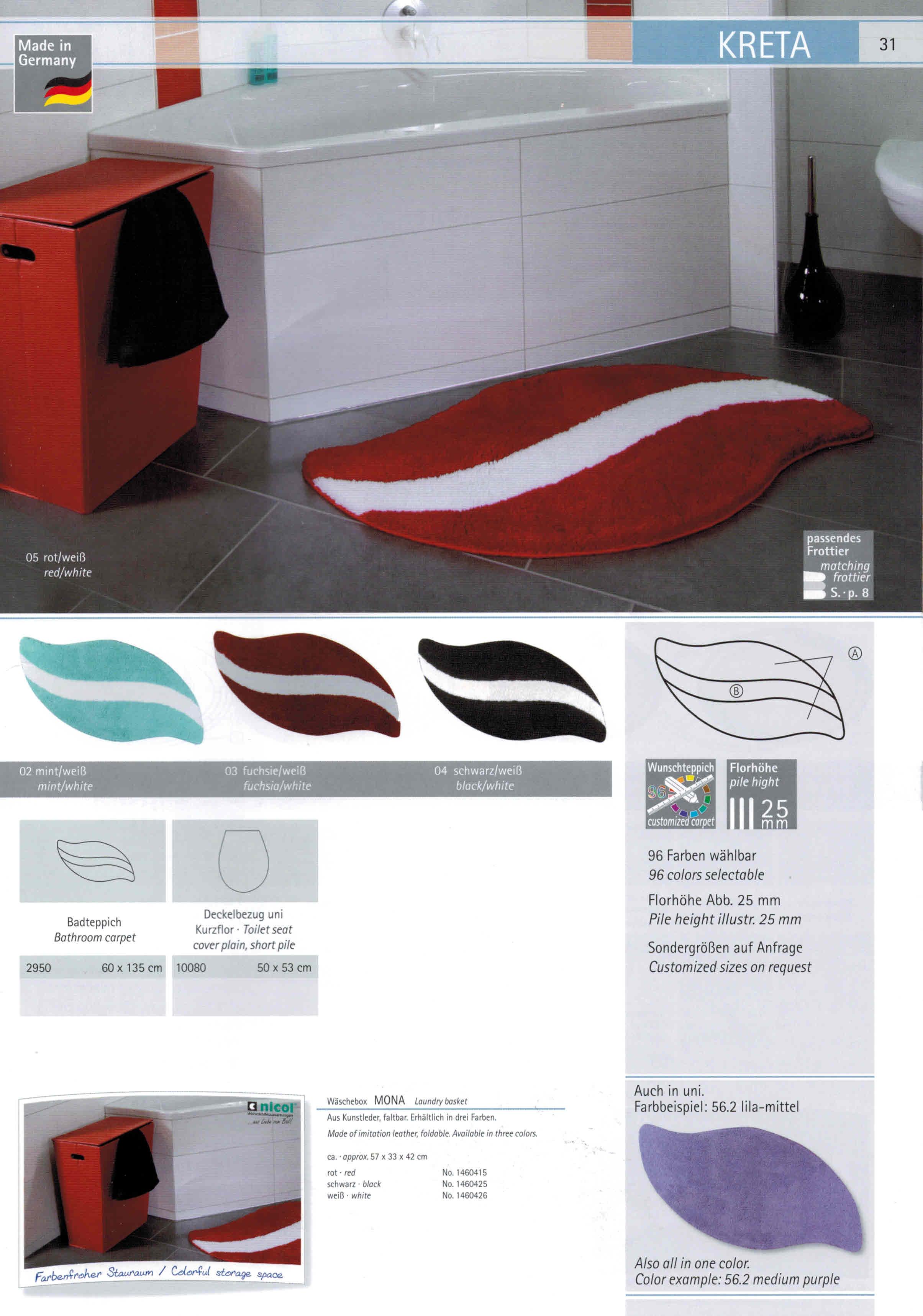 clarissa badteppich kreta badteppich nach ma inside53. Black Bedroom Furniture Sets. Home Design Ideas