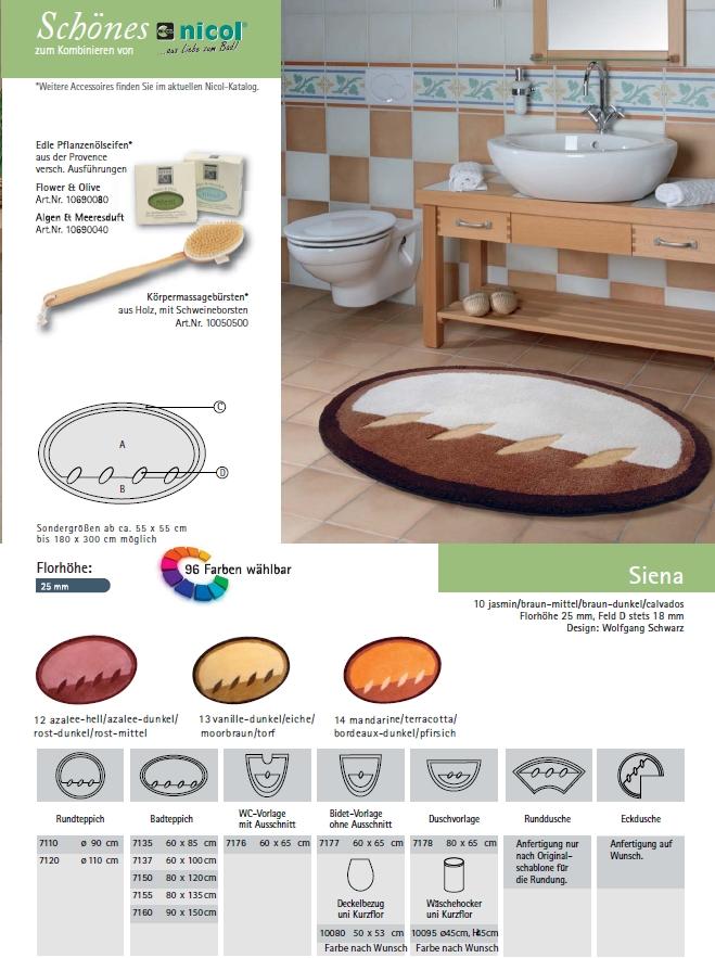 clarissa badteppich siena braun badteppich nach ma. Black Bedroom Furniture Sets. Home Design Ideas
