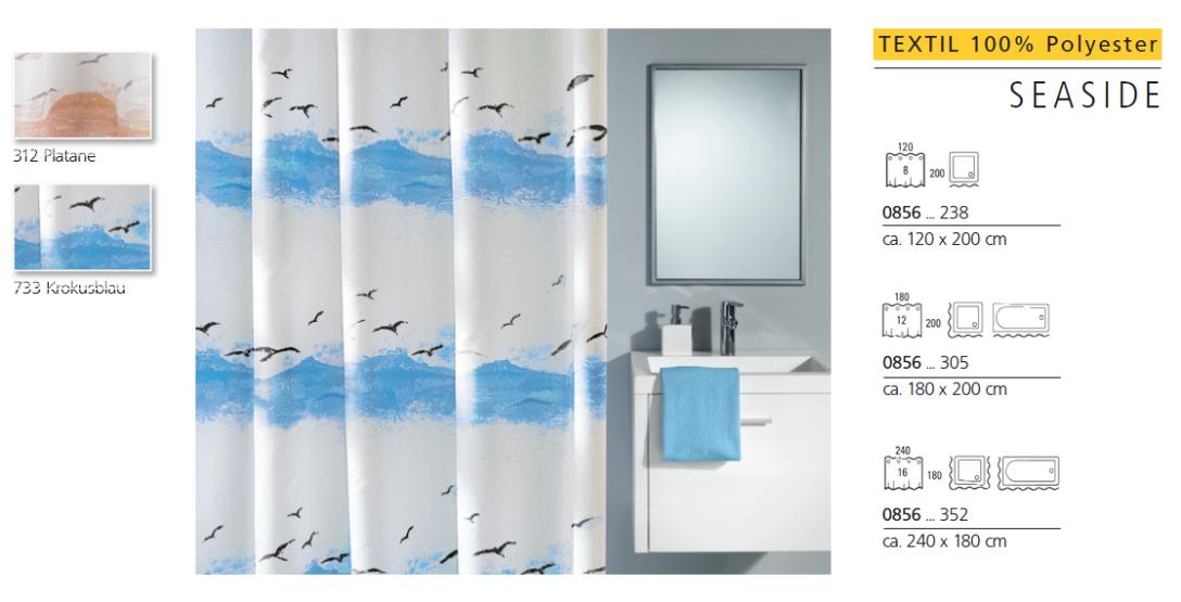 kleine wolke textiler duschvorhang seaside inside53. Black Bedroom Furniture Sets. Home Design Ideas