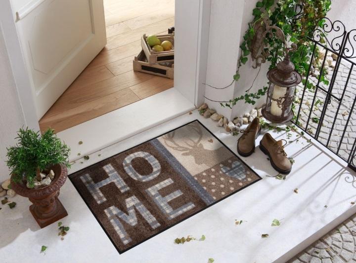 hirsch mit herz von salonloewe waschbare fu matte. Black Bedroom Furniture Sets. Home Design Ideas