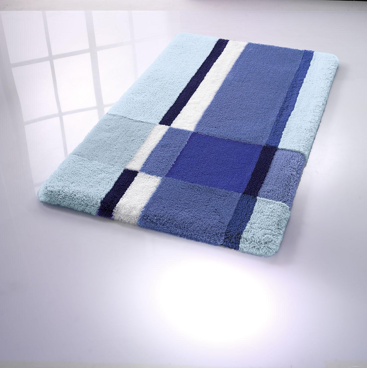 wc vorleger mit ausschnitt venice 55 x 55 cm himmelblau von kleine wolke. Black Bedroom Furniture Sets. Home Design Ideas