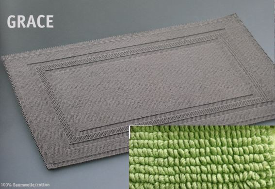 badteppich grace 70 x 120 limette von rhomtuft. Black Bedroom Furniture Sets. Home Design Ideas