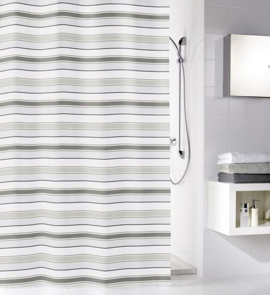 textiler duschvorhang stripes 180 x 200 cm grau 120. Black Bedroom Furniture Sets. Home Design Ideas